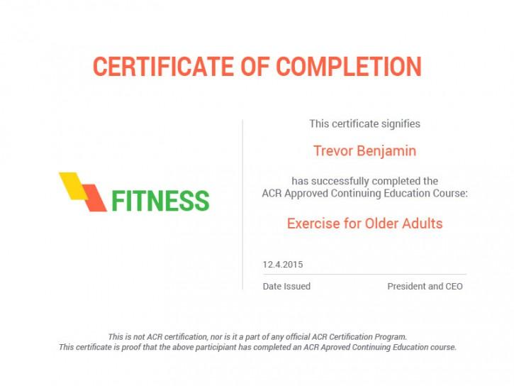 Certificates – HealthCoach
